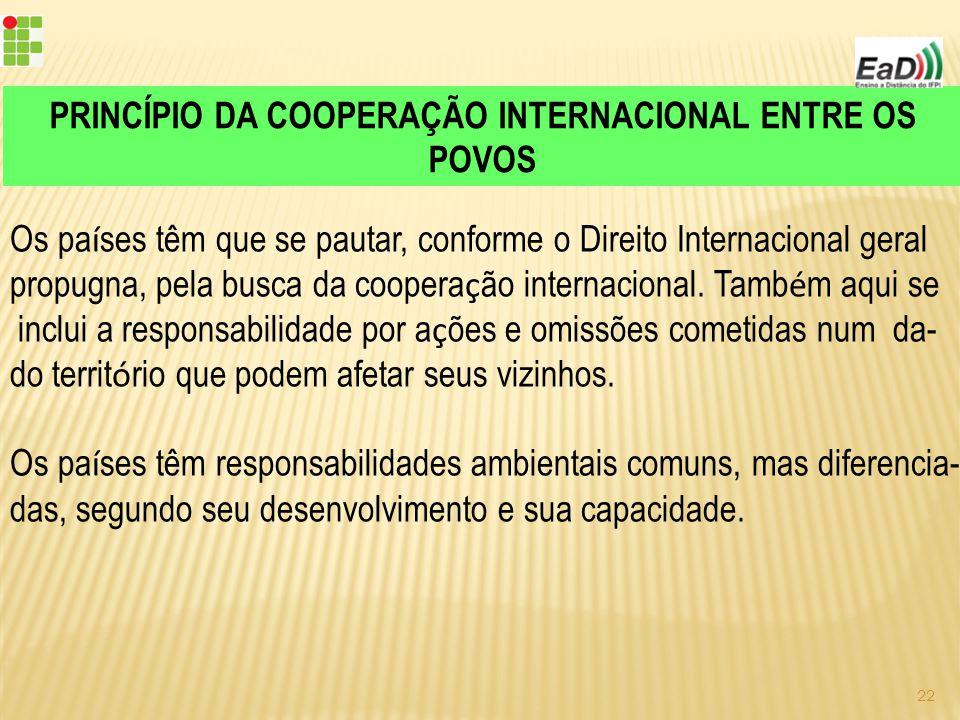 PRINCÍPIO DA COOPERAÇÃO INTERNACIONAL ENTRE OS POVOS