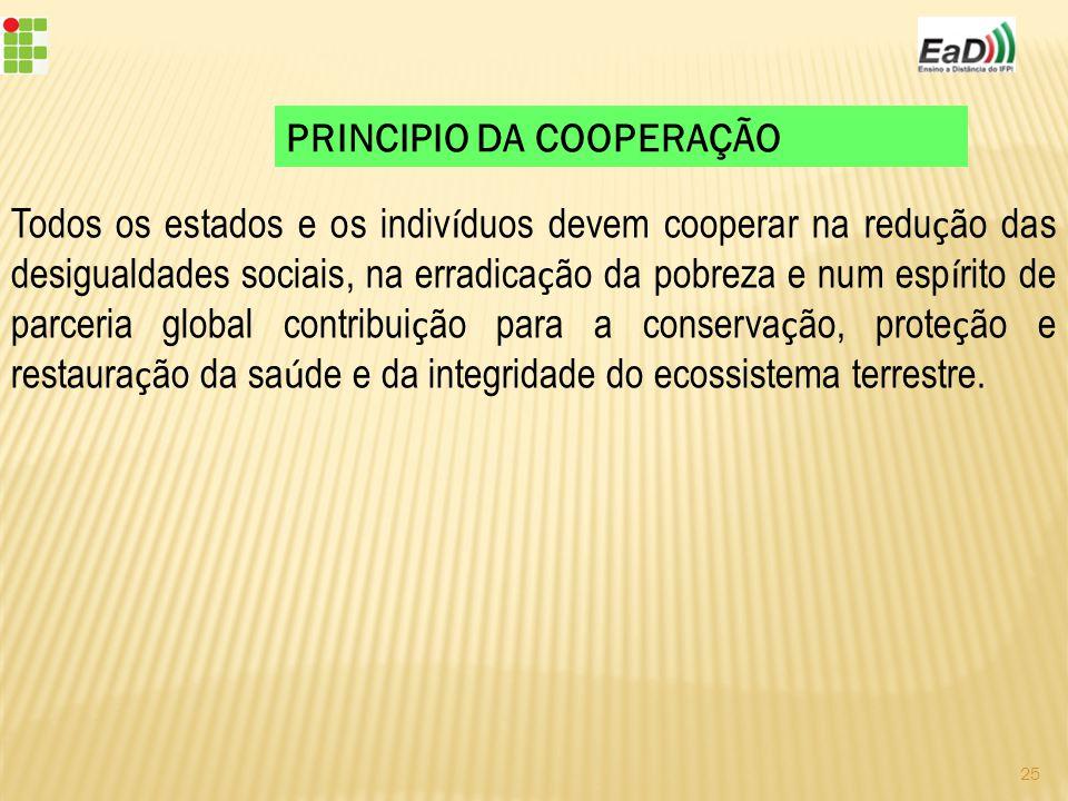 PRINCIPIO DA COOPERAÇÃO