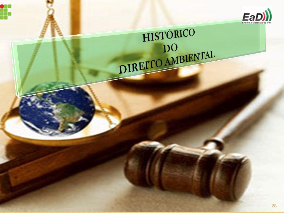 HISTÓRICO DO DIREITO AMBIENTAL