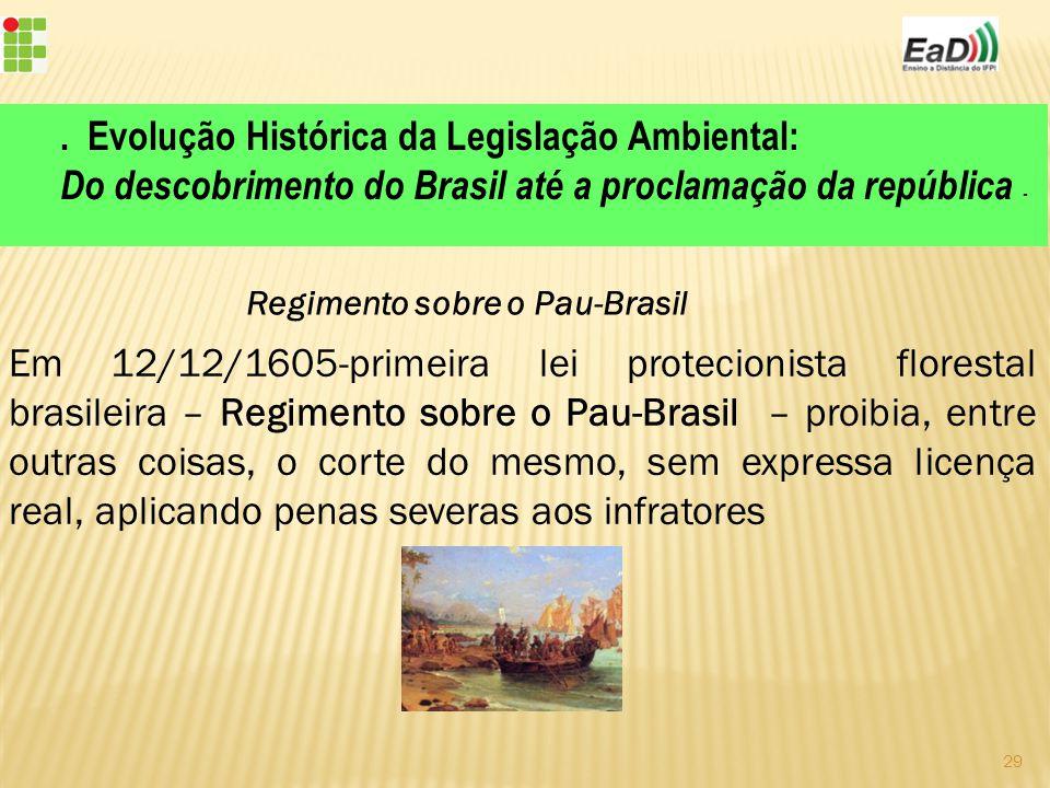 . Evolução Histórica da Legislação Ambiental: