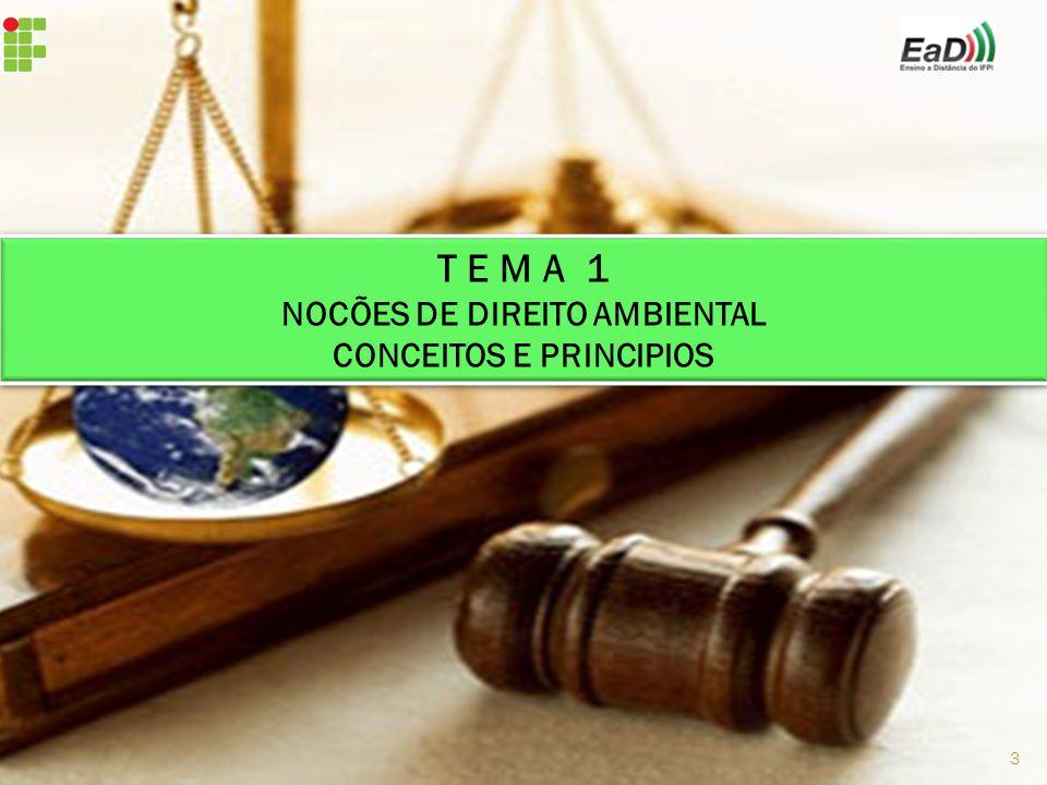 NOCÕES DE DIREITO AMBIENTAL CONCEITOS E PRINCIPIOS