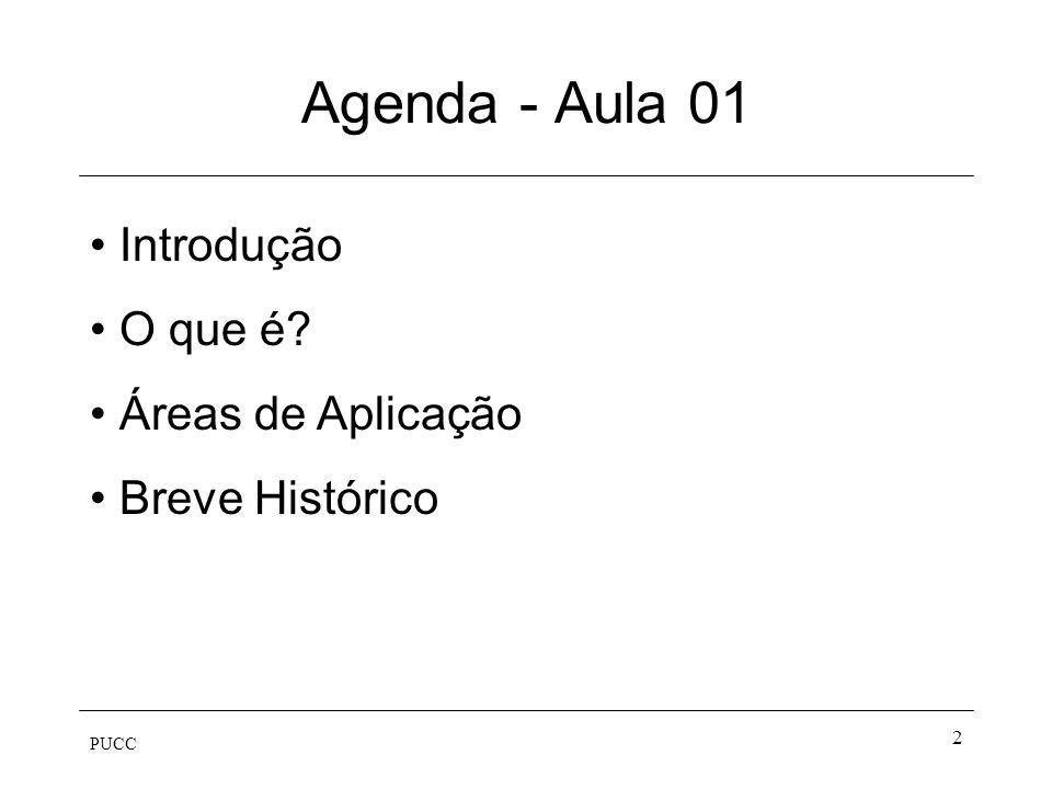 Agenda - Aula 01 Introdução O que é Áreas de Aplicação