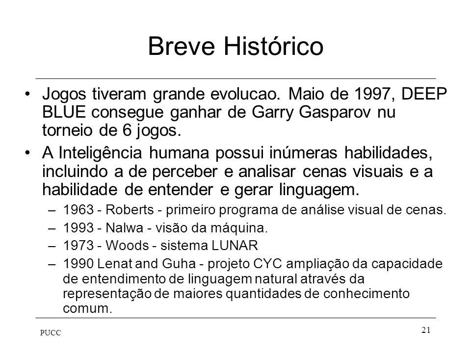 Breve Histórico Jogos tiveram grande evolucao. Maio de 1997, DEEP BLUE consegue ganhar de Garry Gasparov nu torneio de 6 jogos.