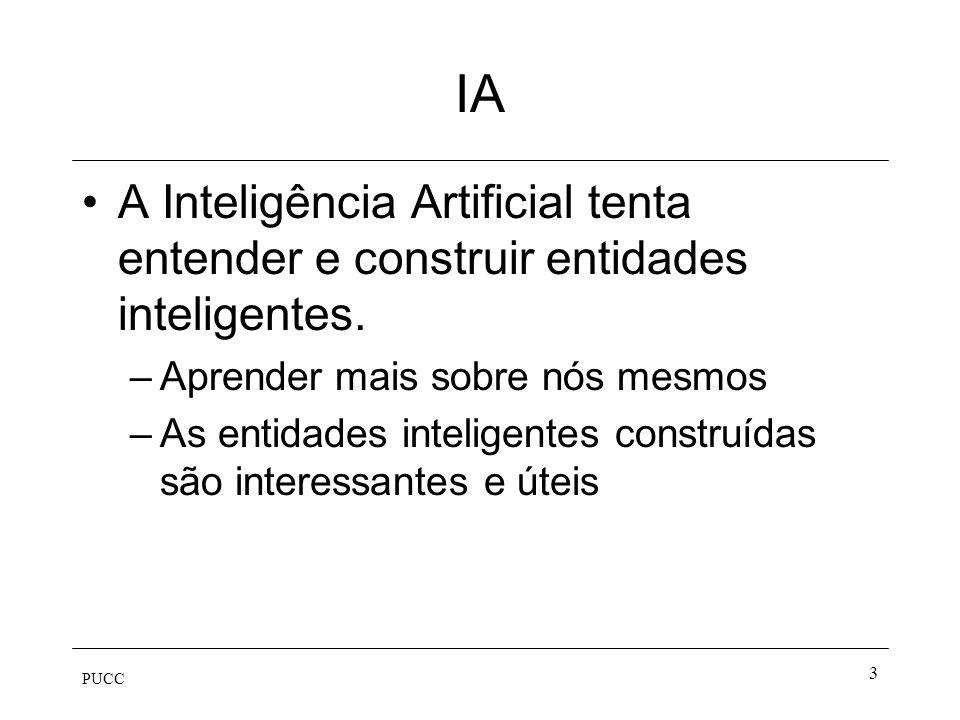 IA A Inteligência Artificial tenta entender e construir entidades inteligentes. Aprender mais sobre nós mesmos.