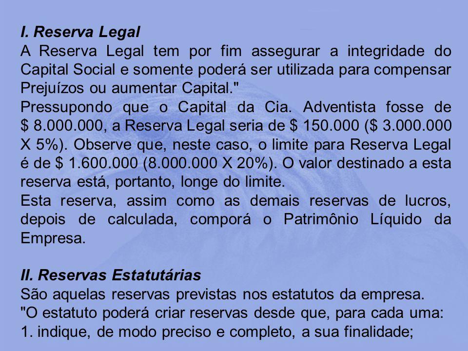 I. Reserva Legal