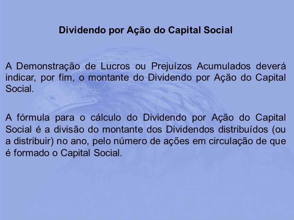 Dividendo por Ação do Capital Social