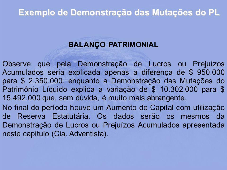 Exemplo de Demonstração das Mutações do PL