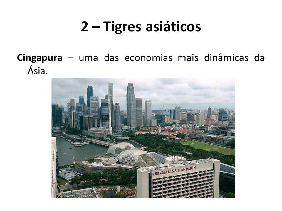 2 – Tigres asiáticos Cingapura – uma das economias mais dinâmicas da Ásia.
