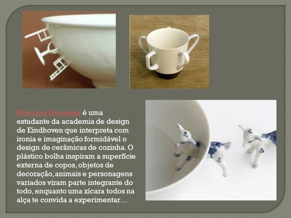 Monique Goossens é uma estudante da academia de design de Eindhoven que interpreta com ironia e imaginação formidável o design de cerâmicas de cozinha.