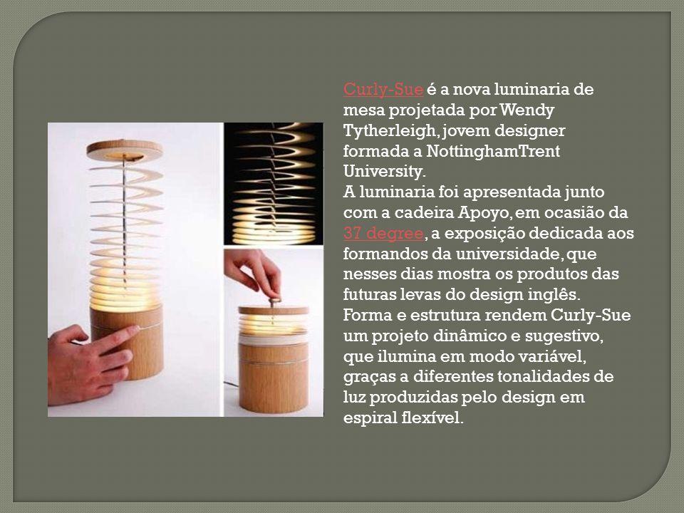 Curly-Sue é a nova luminaria de mesa projetada por Wendy Tytherleigh, jovem designer formada a NottinghamTrent University.