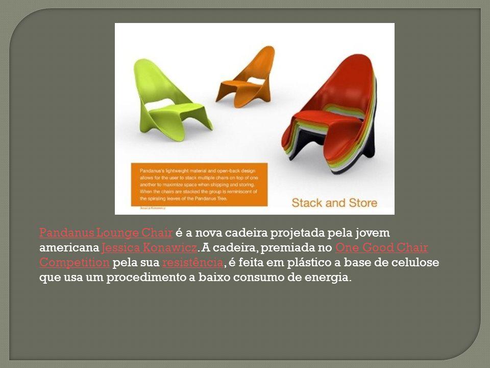 Pandanus Lounge Chair é a nova cadeira projetada pela jovem americana Jessica Konawicz.