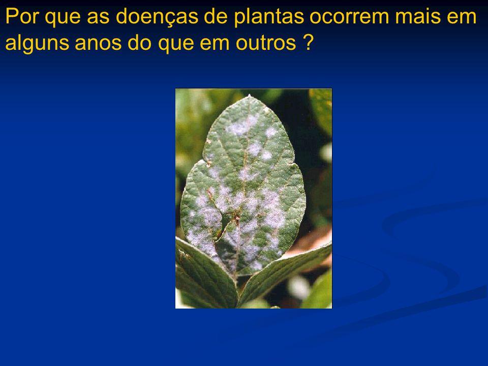 Por que as doenças de plantas ocorrem mais em alguns anos do que em outros