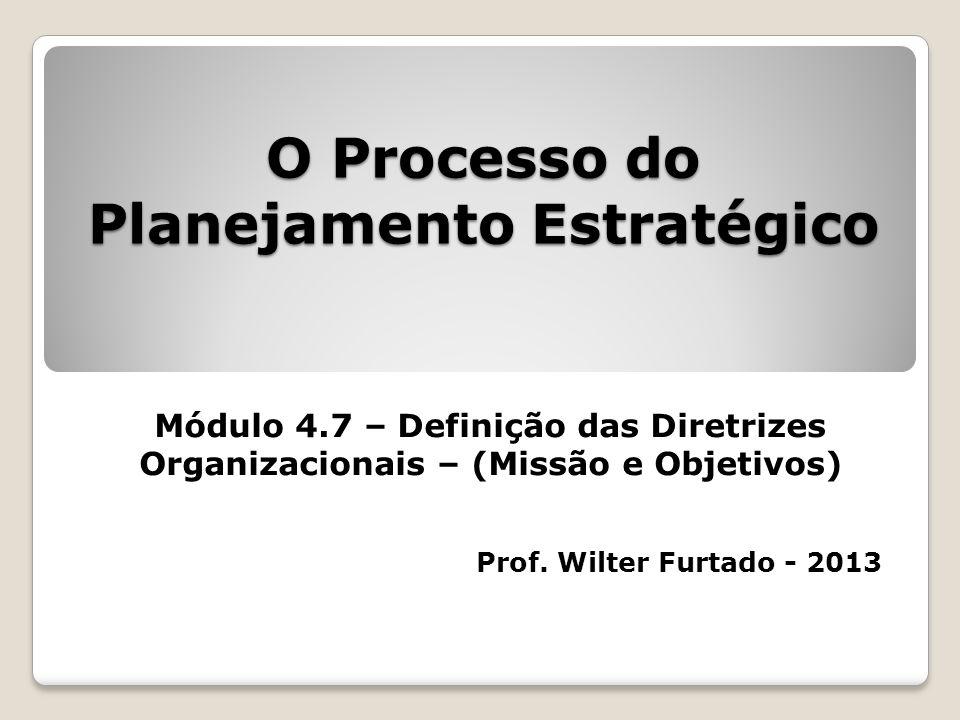 O Processo do Planejamento Estratégico