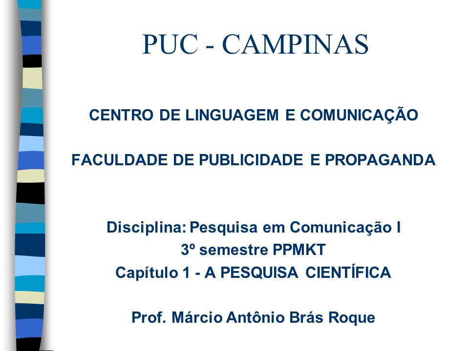 PUC - CAMPINAS CENTRO DE LINGUAGEM E COMUNICAÇÃO