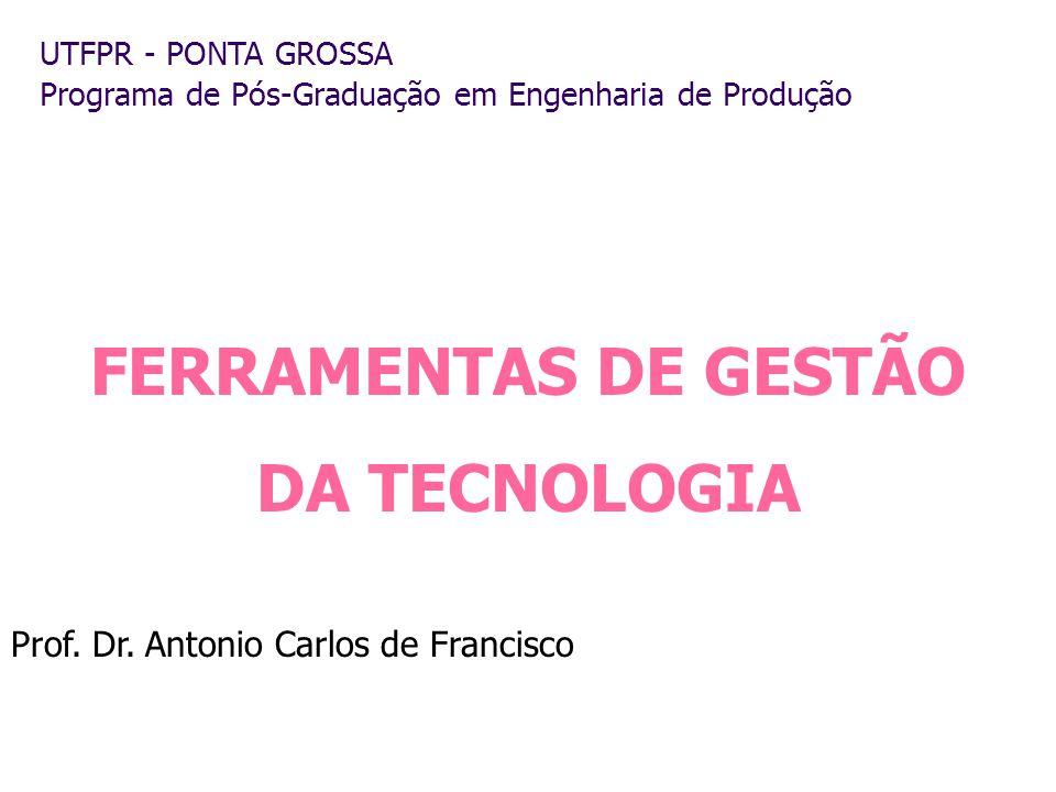 FERRAMENTAS DE GESTÃO DA TECNOLOGIA