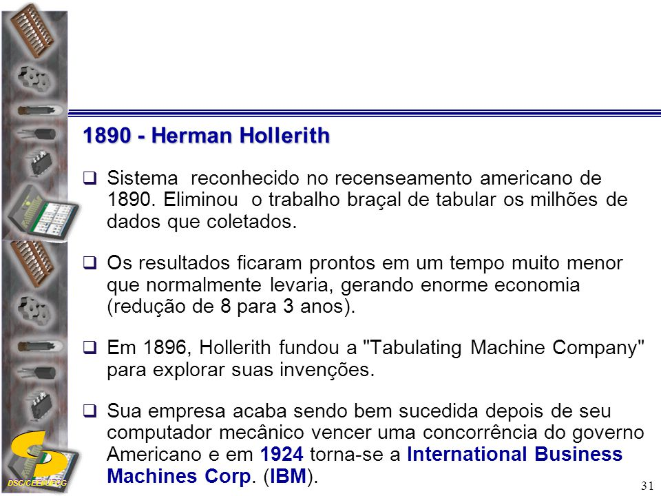 1890 - Herman Hollerith