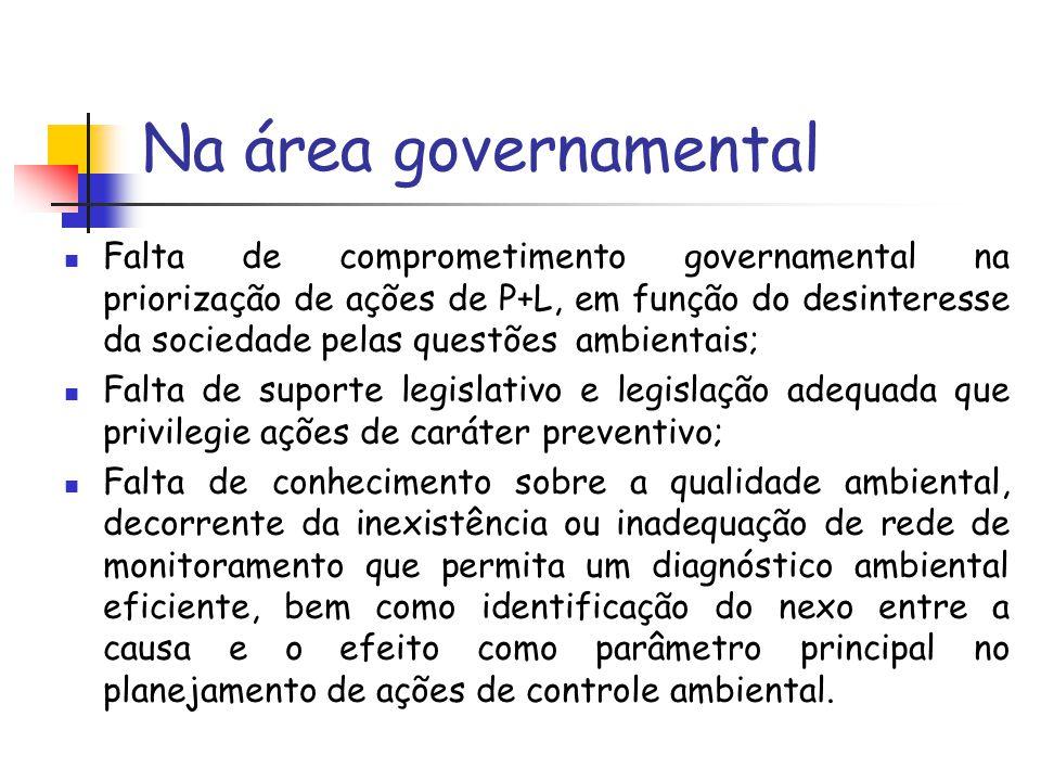 Na área governamental