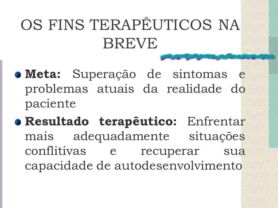 OS FINS TERAPÊUTICOS NA BREVE
