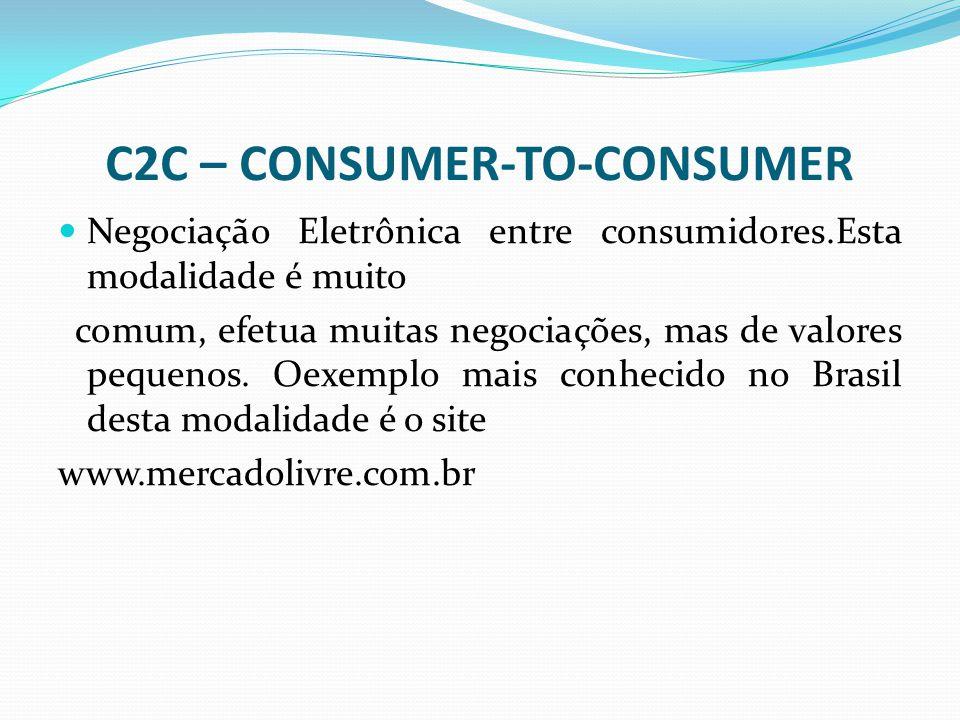 C2C – CONSUMER-TO-CONSUMER
