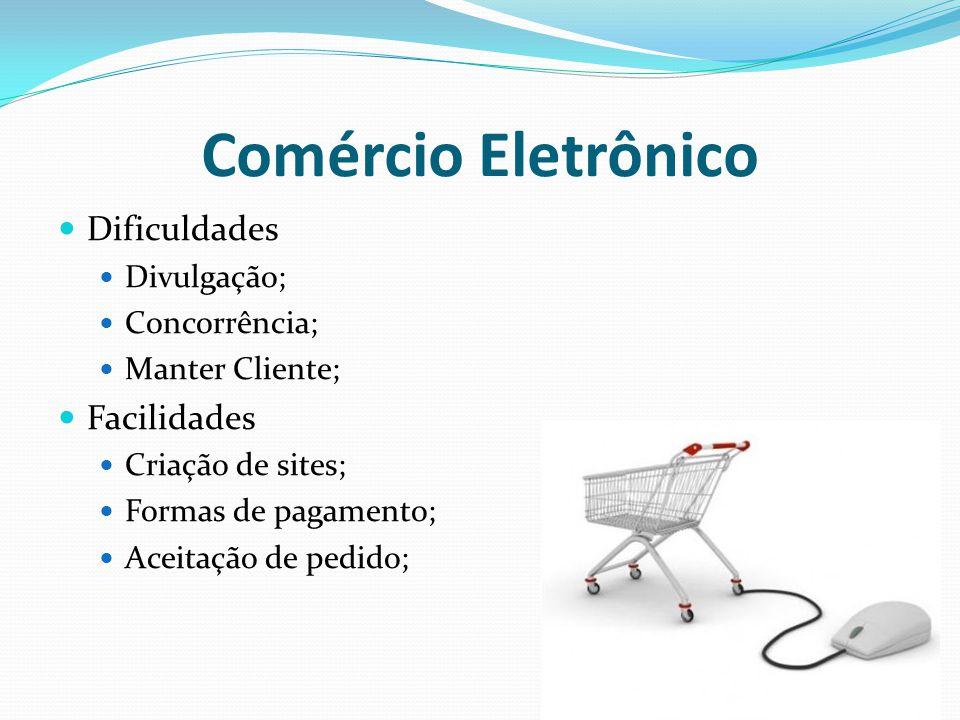 Comércio Eletrônico Dificuldades Facilidades Divulgação; Concorrência;