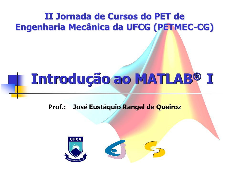 II Jornada de Cursos do PET de Engenharia Mecânica da UFCG (PETMEC-CG)