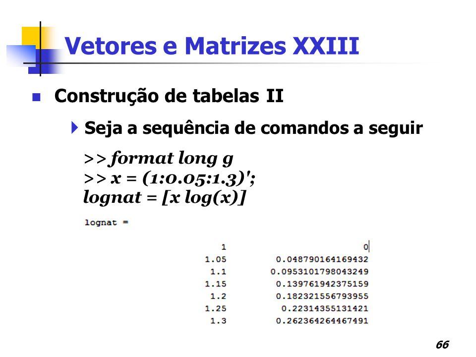 Vetores e Matrizes XXIII