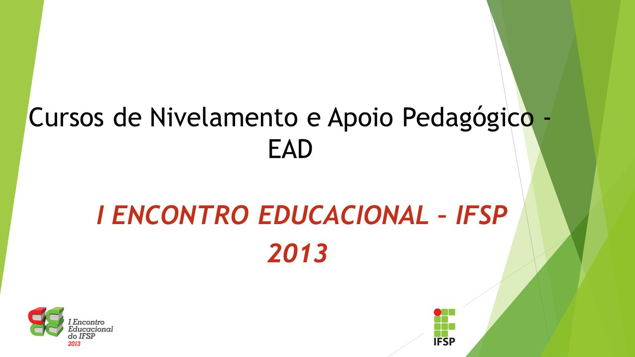 I ENCONTRO EDUCACIONAL – IFSP