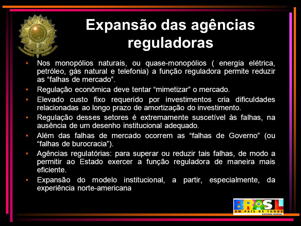 Expansão das agências reguladoras