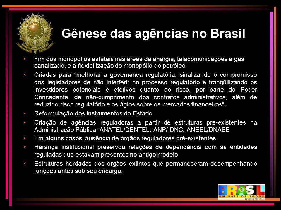 Gênese das agências no Brasil