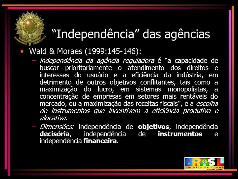 Independência das agências