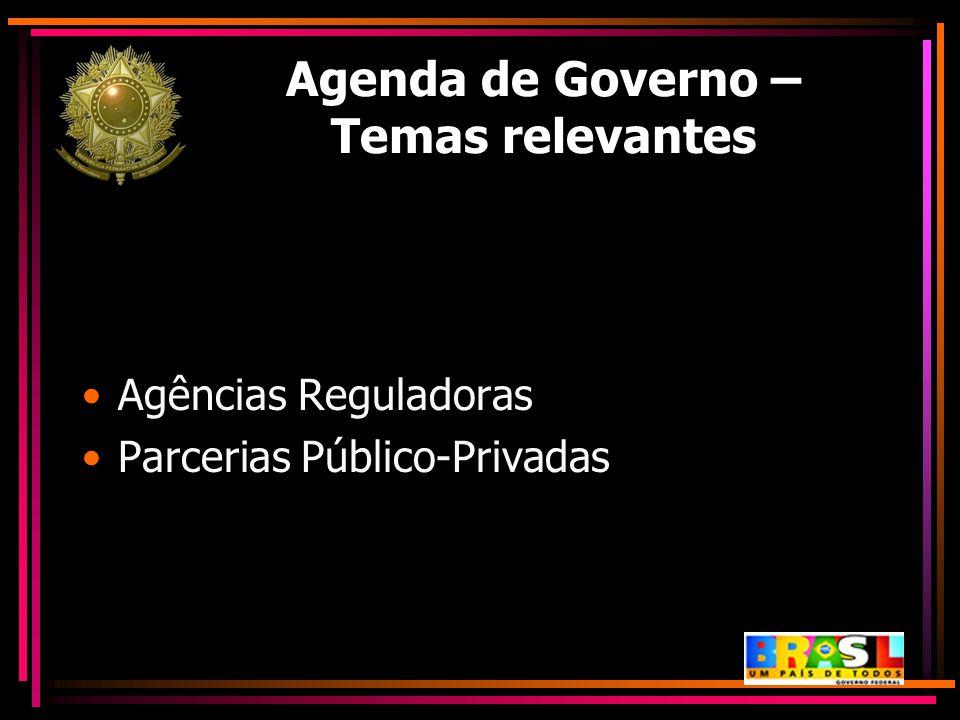 Agenda de Governo – Temas relevantes