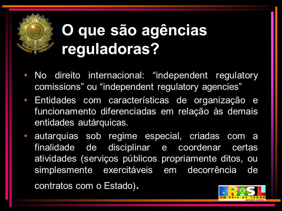 O que são agências reguladoras