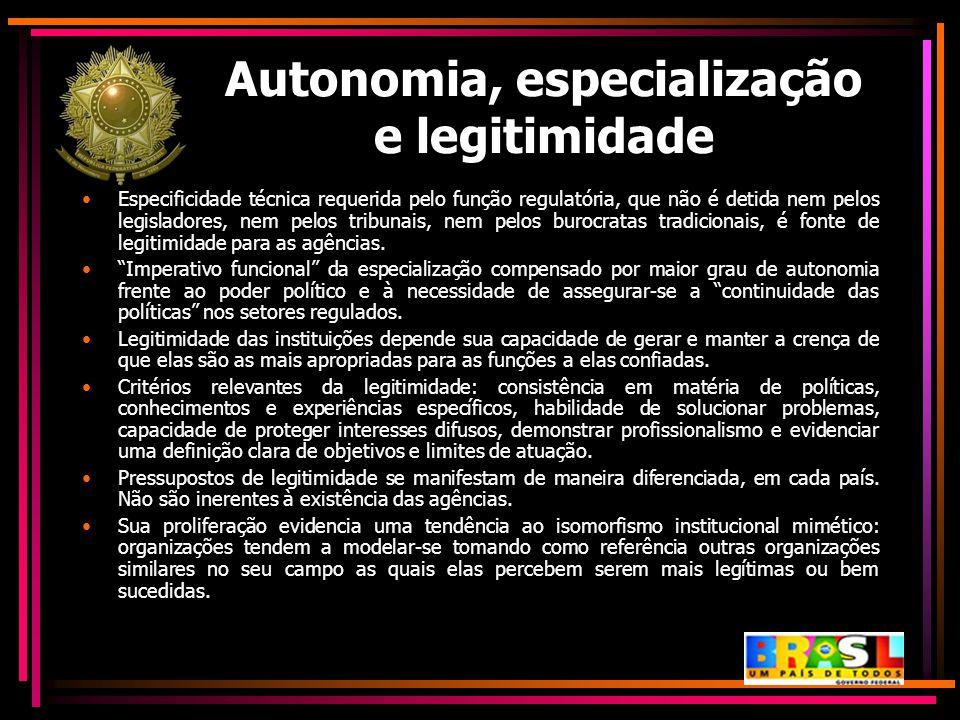 Autonomia, especialização e legitimidade
