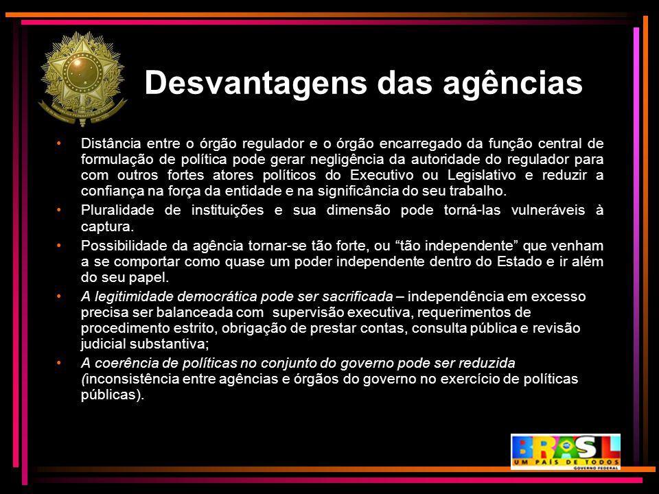 Desvantagens das agências