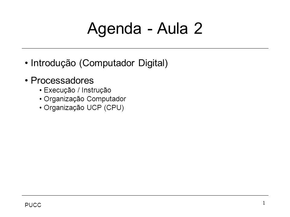 Agenda - Aula 2 Introdução (Computador Digital) Processadores