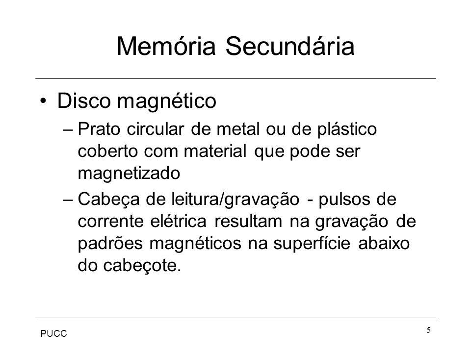 Memória Secundária Disco magnético