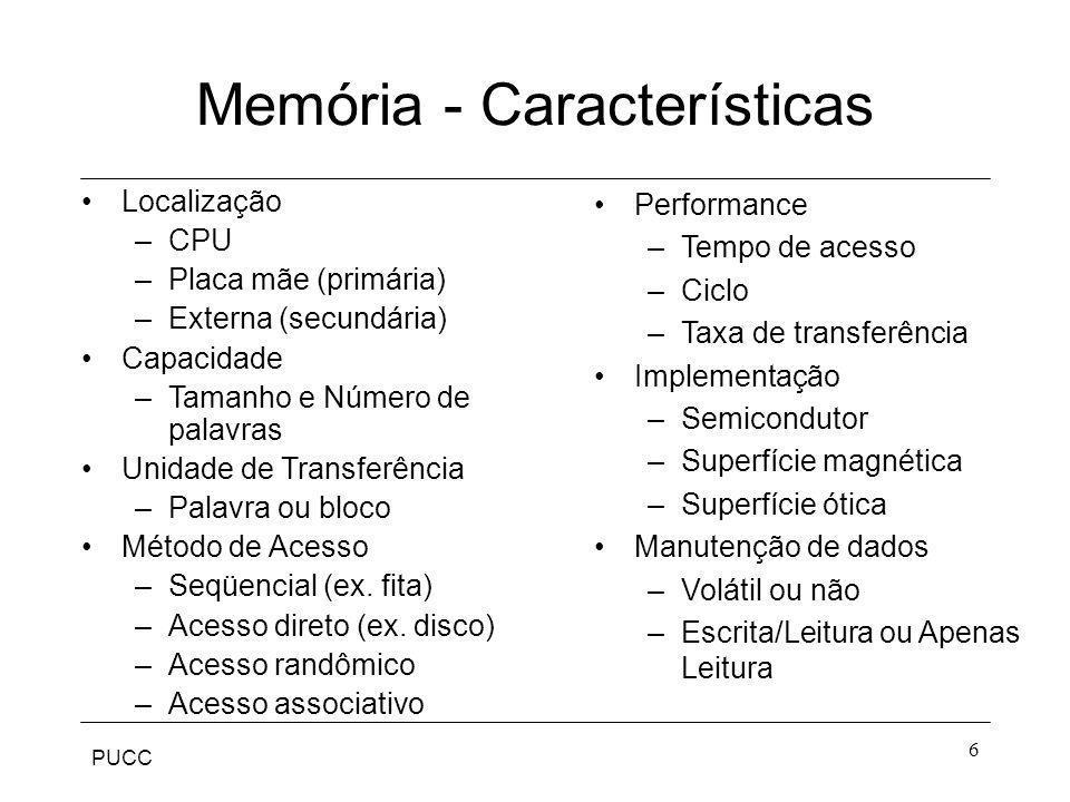 Memória - Características