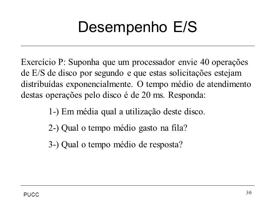 Desempenho E/S