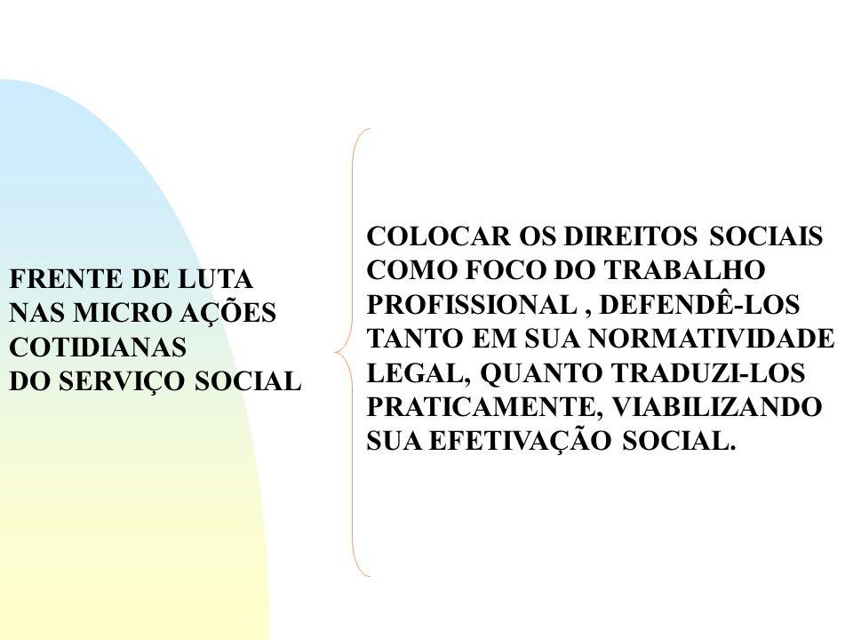 COLOCAR OS DIREITOS SOCIAIS