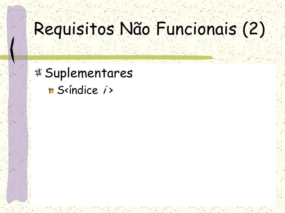 Requisitos Não Funcionais (2)