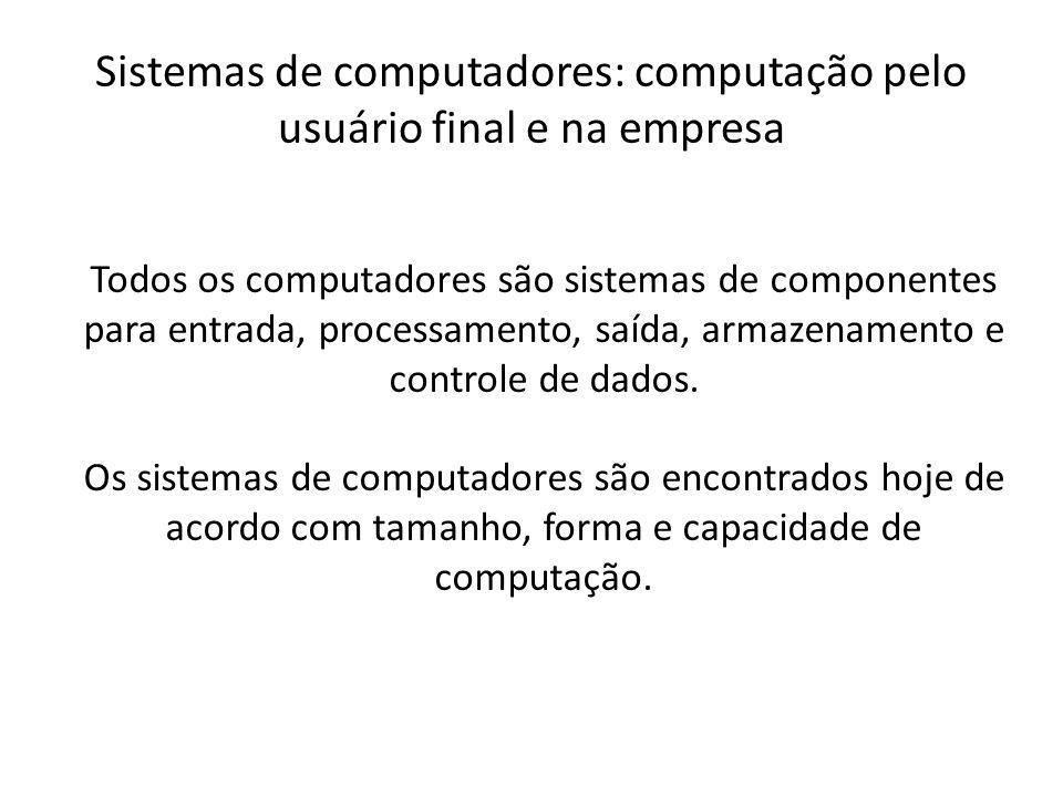 Sistemas de computadores: computação pelo usuário final e na empresa