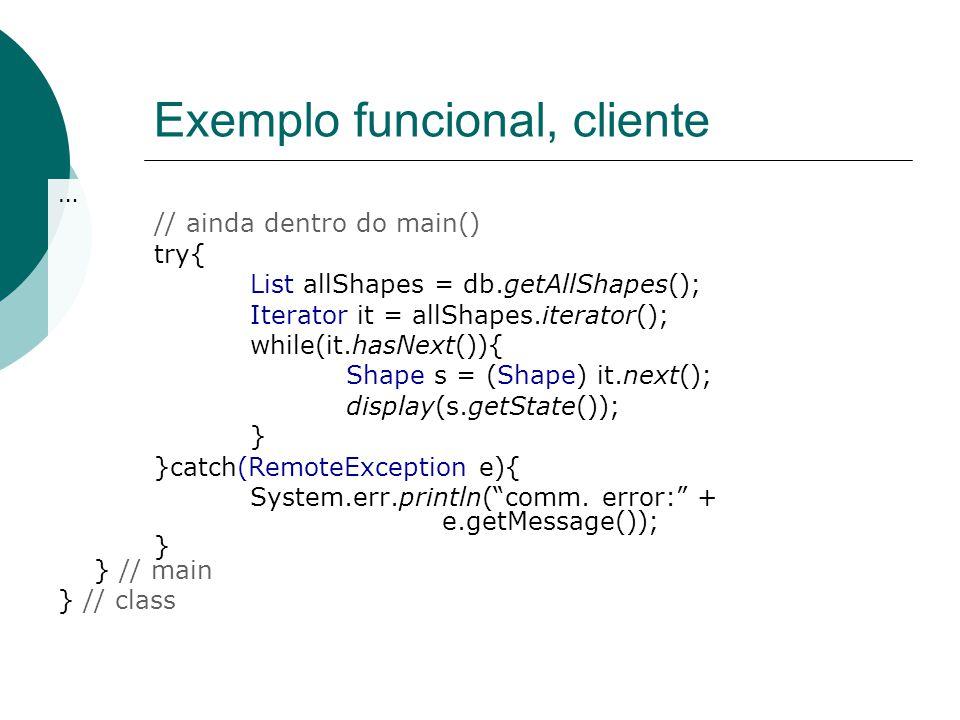 Exemplo funcional, cliente