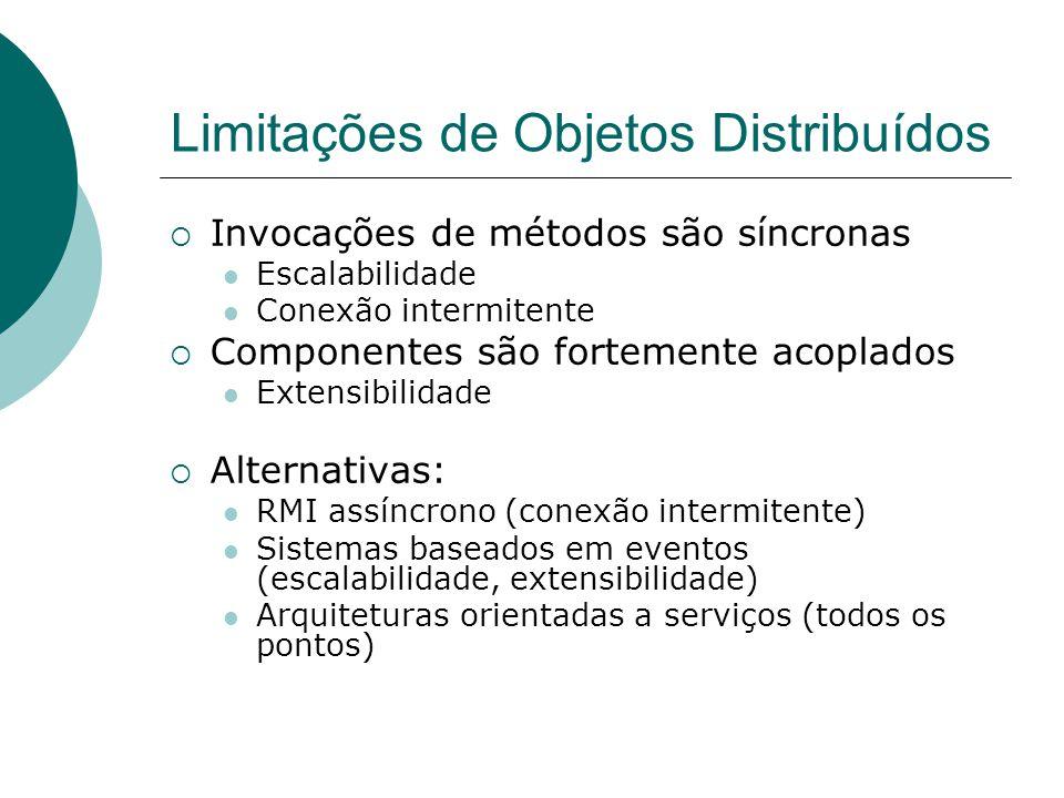 Limitações de Objetos Distribuídos