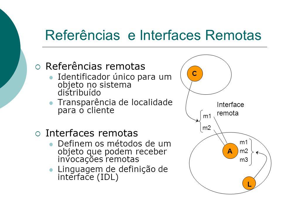 Referências e Interfaces Remotas