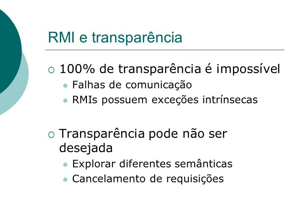 RMI e transparência 100% de transparência é impossível