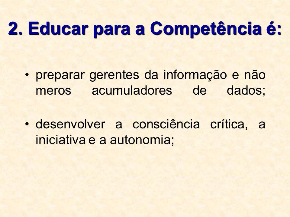 2. Educar para a Competência é: