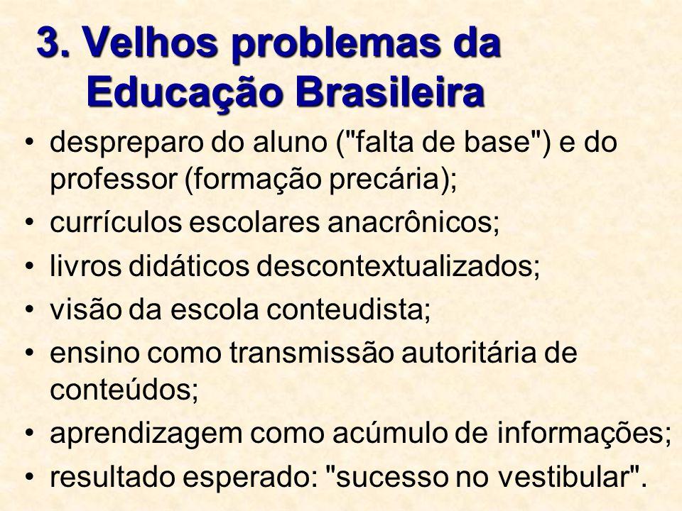 3. Velhos problemas da Educação Brasileira