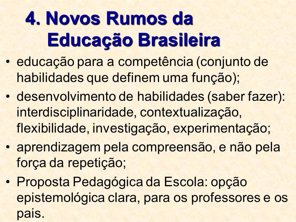 4. Novos Rumos da Educação Brasileira