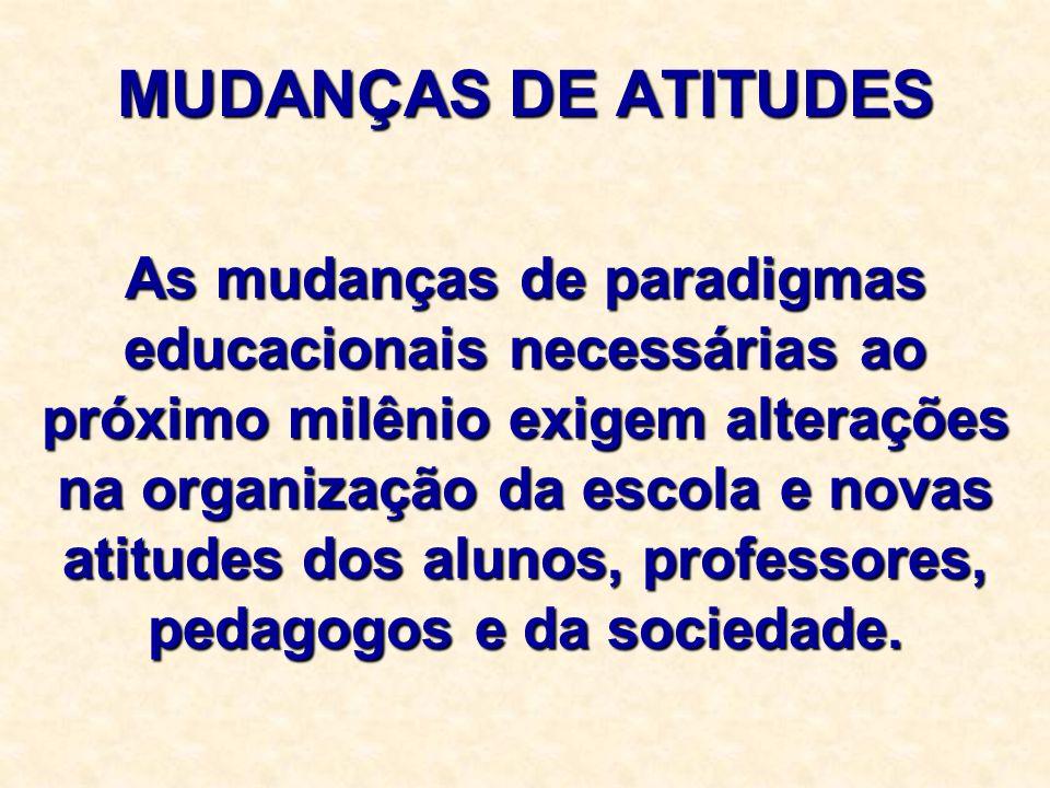 MUDANÇAS DE ATITUDES