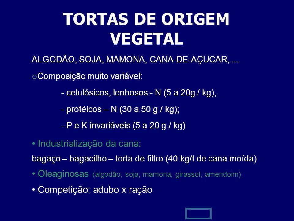 TORTAS DE ORIGEM VEGETAL